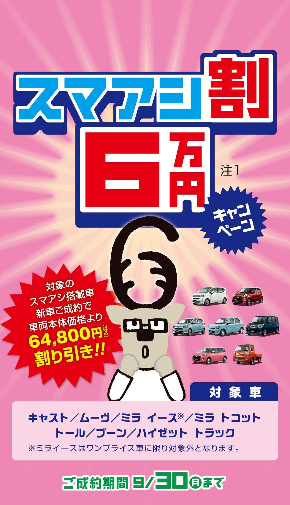 スマアシ割6万円