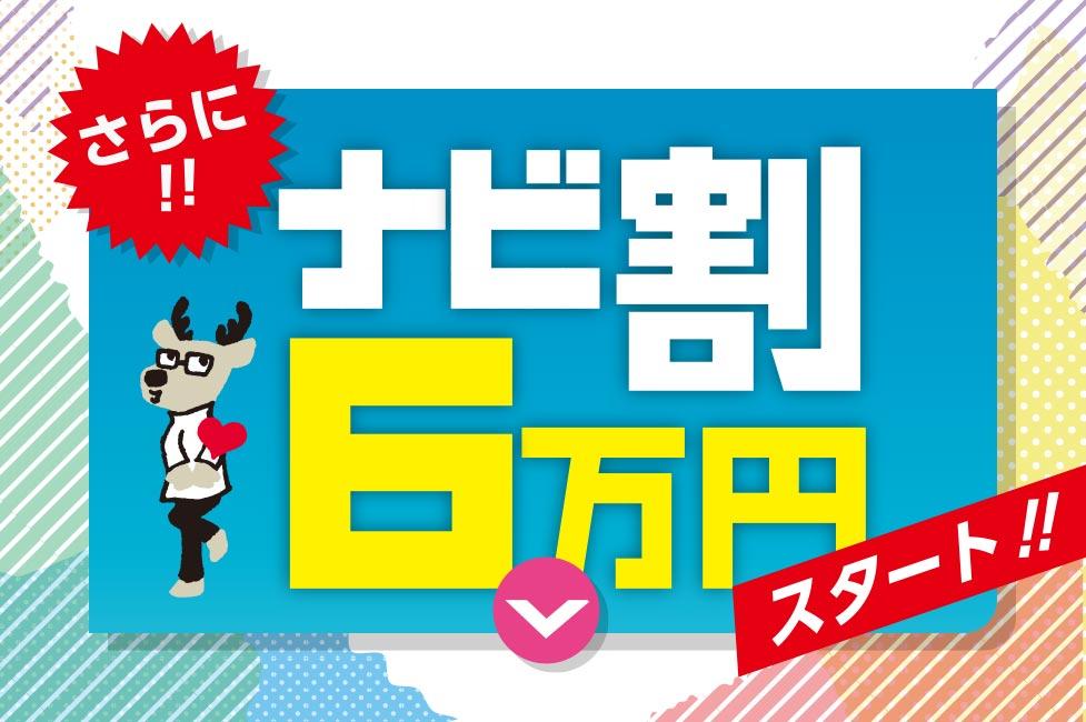 ナビ割6万円キャンペーンスタート!!