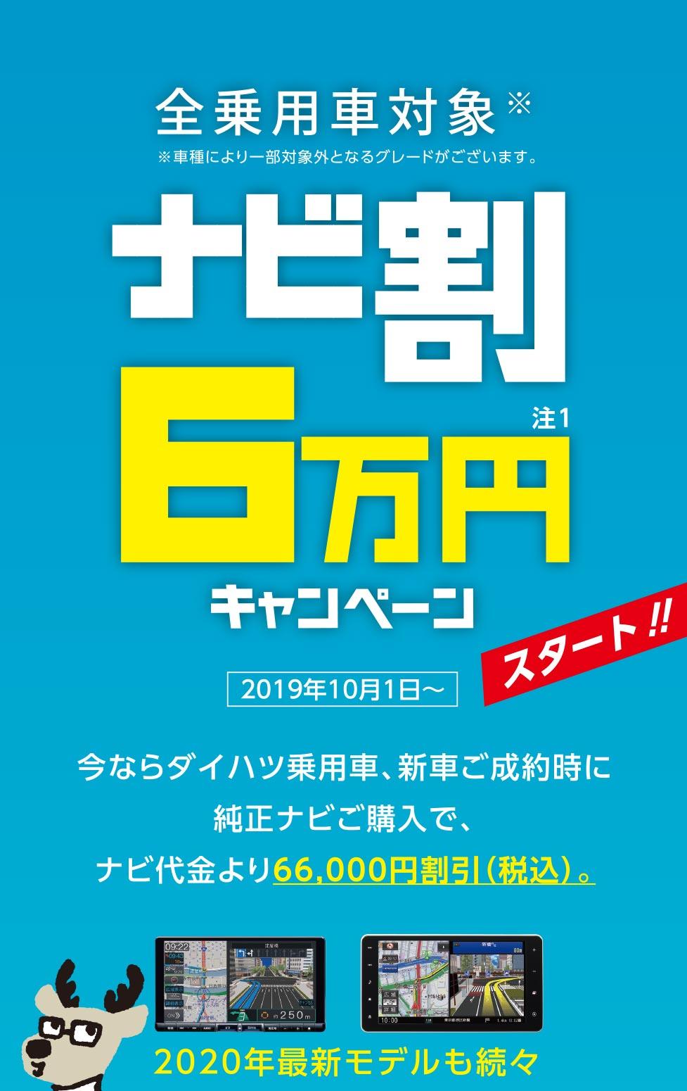ナビ割6万円キャンペーン スタート!!