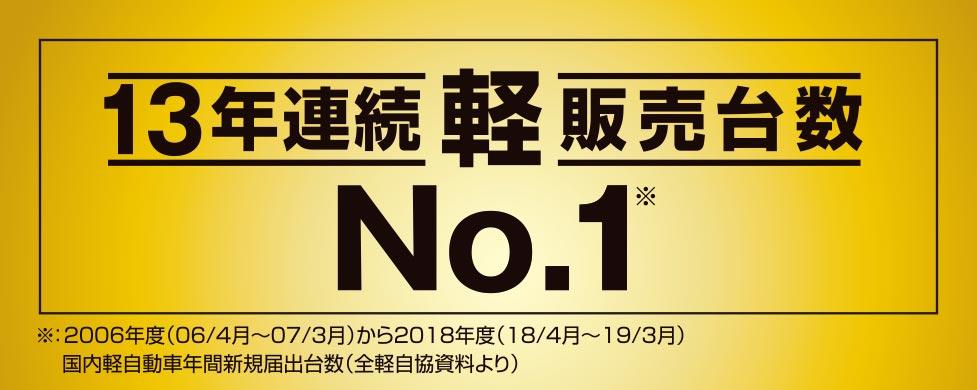 軽販売台数13年連続No1